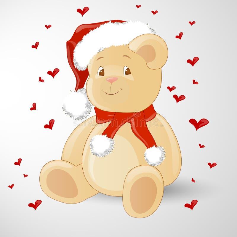 αντέξτε τα Χριστούγεννα teddy ελεύθερη απεικόνιση δικαιώματος