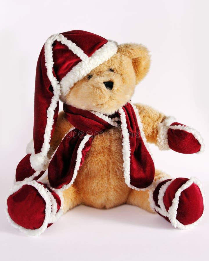 αντέξτε τα Χριστούγεννα teddy στοκ φωτογραφίες