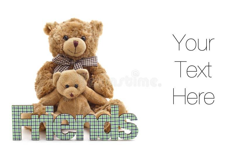 αντέξτε τη φιλία teddy στοκ φωτογραφία