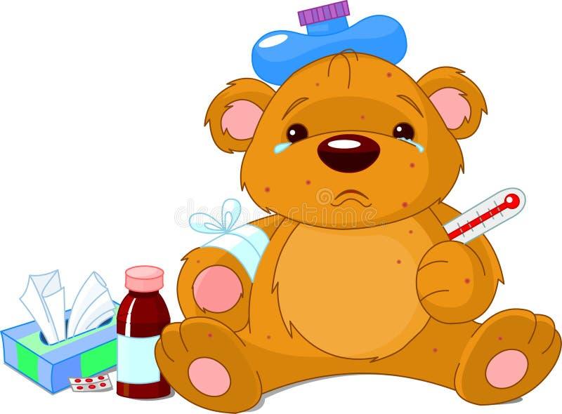 αντέξτε τους αρρώστους teddy διανυσματική απεικόνιση