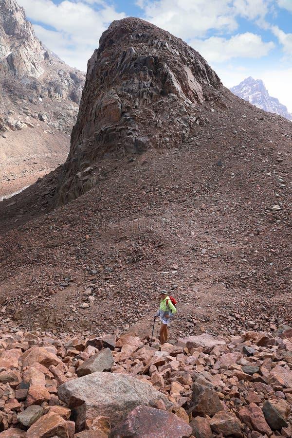 Αντέξτε το βουνό στα βουνά Tian Shan Καζακστάν στοκ εικόνες