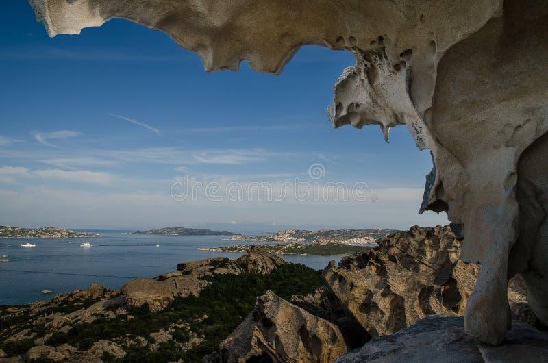 Αντέξτε το βράχο, ακρωτήριο d Orso, Σαρδηνία στοκ εικόνες