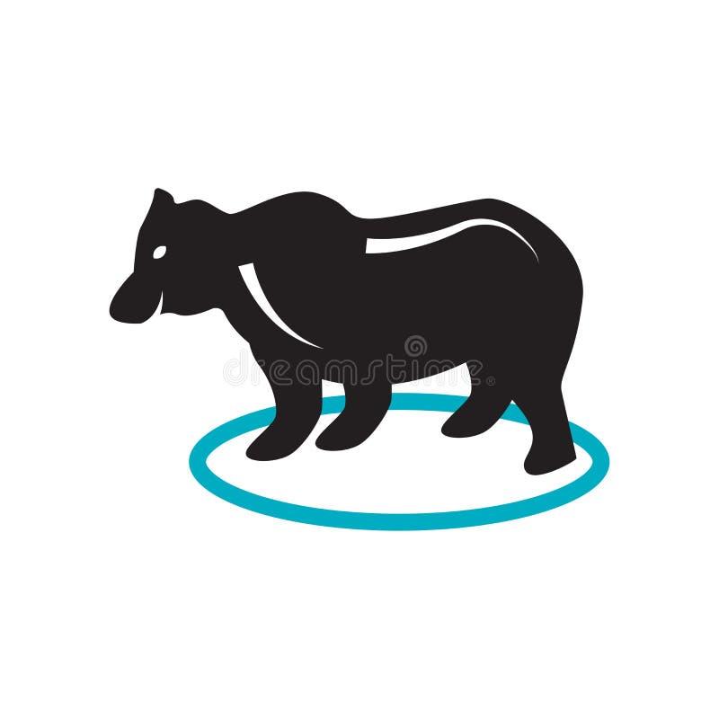 Αντέξτε το διανυσματικό σημάδι εικονιδίων και το σύμβολο που απομονώνεται στο άσπρο υπόβαθρο, αντέχει την έννοια λογότυπων διανυσματική απεικόνιση
