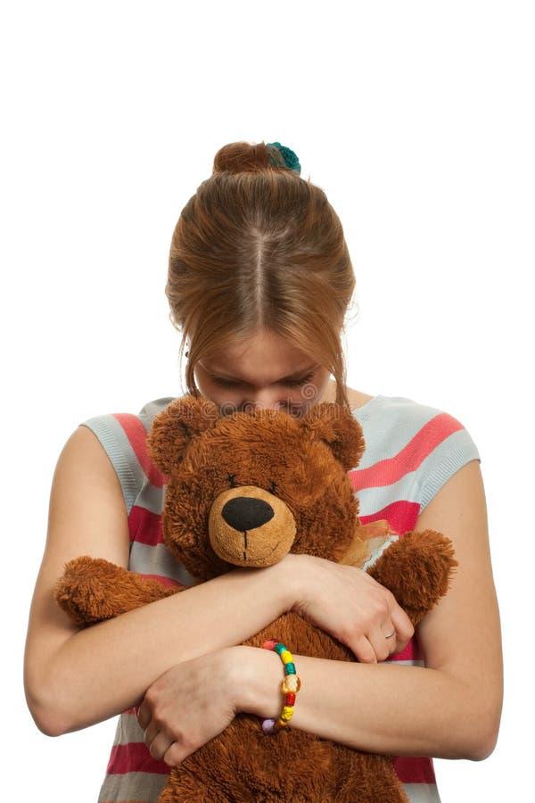 αντέξτε το κορίτσι teddy στοκ εικόνες με δικαίωμα ελεύθερης χρήσης