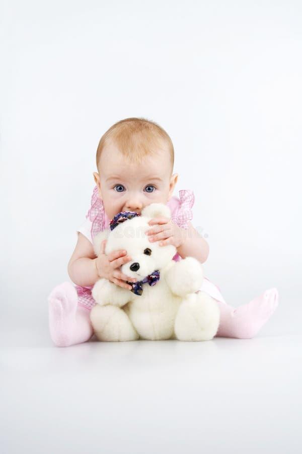 αντέξτε το παιδί teddy στοκ φωτογραφία με δικαίωμα ελεύθερης χρήσης
