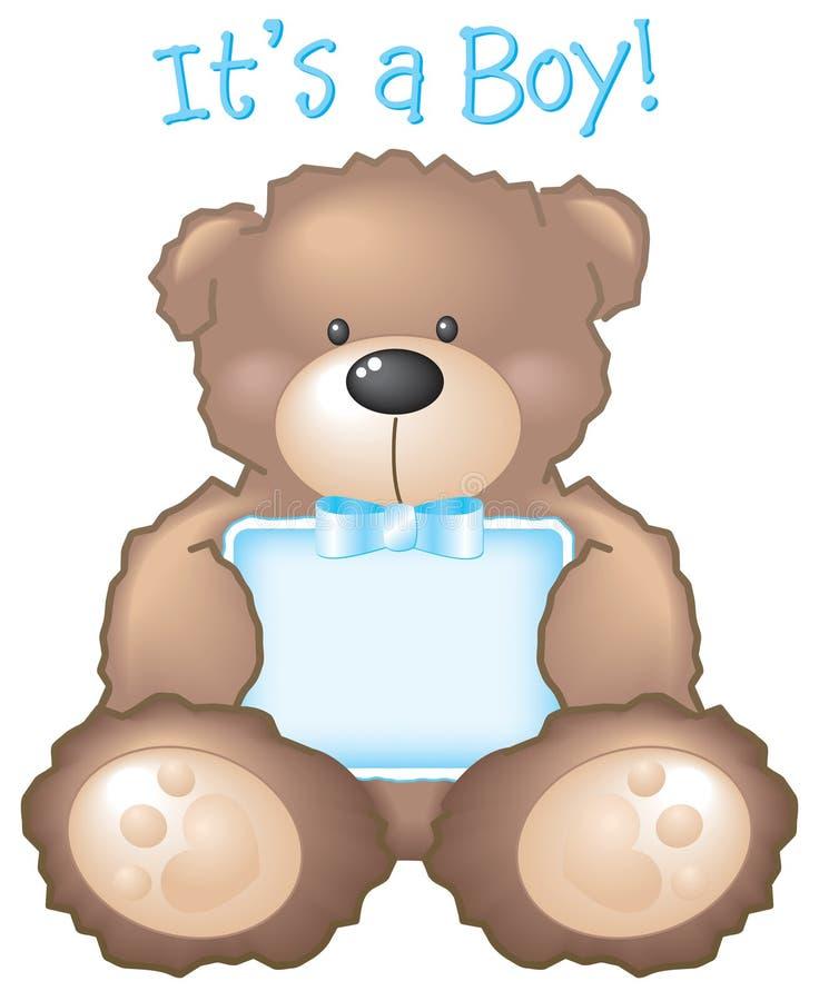 αντέξτε το σημάδι αγοριών s teddy ελεύθερη απεικόνιση δικαιώματος