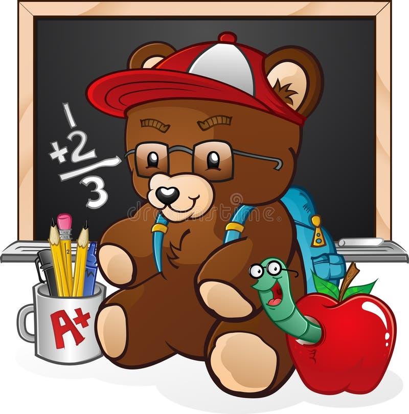 αντέξτε το σπουδαστή teddy διανυσματική απεικόνιση