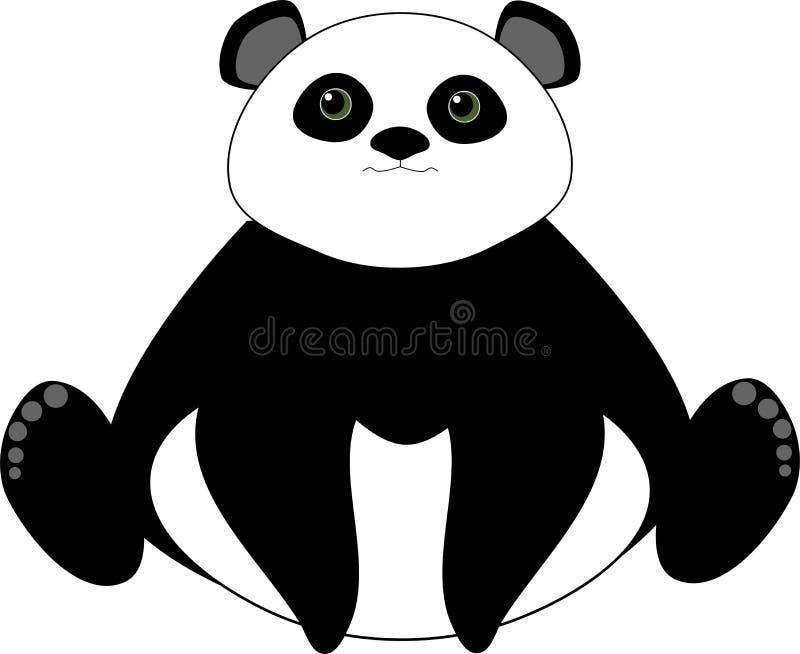 αντέξτε το χαριτωμένο panda διανυσματική απεικόνιση