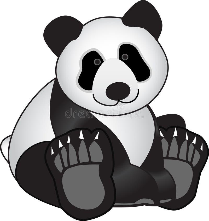 αντέξτε το panda διανυσματική απεικόνιση