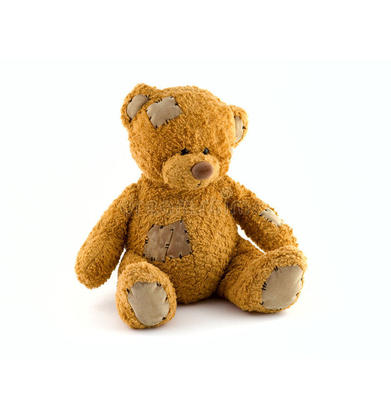 αντέξτε χαριτωμένο teddy στοκ φωτογραφίες