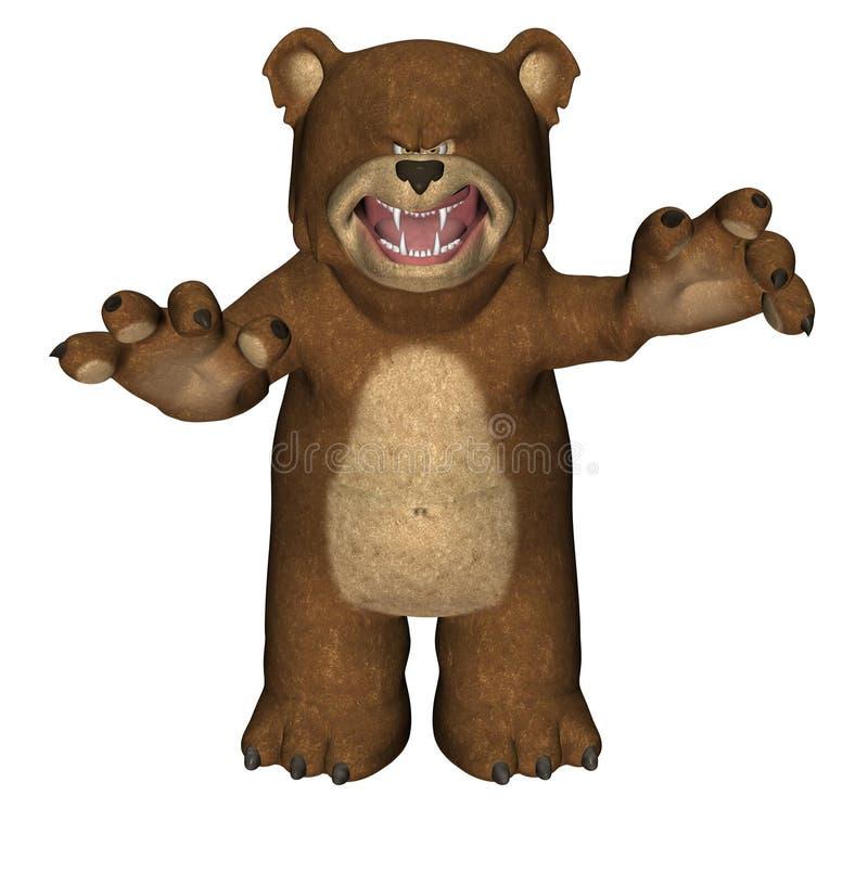 αντέξτε scary teddy απεικόνιση αποθεμάτων