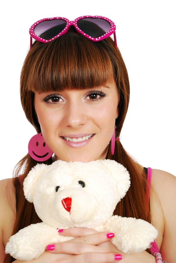 Download αντέξτε Teddy εφηβικό κοριτσιώ&n Στοκ Εικόνες - εικόνα από γούνα, πορτρέτο: 17055452