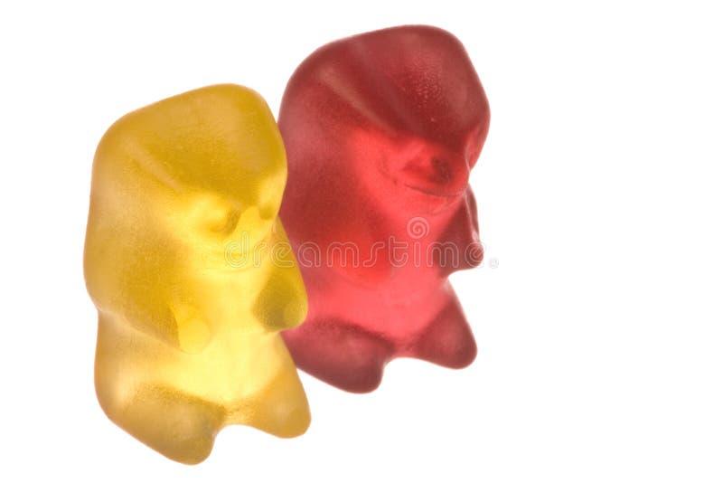 αντέχει τη gummy απομονωμένη μα&kapp στοκ φωτογραφίες