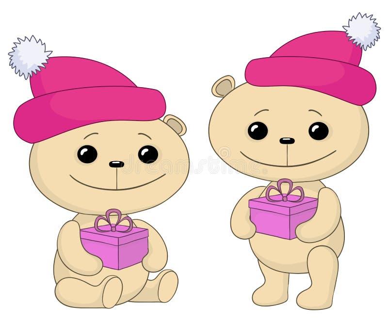 αντέχει το δώρο κιβωτίων teddy απεικόνιση αποθεμάτων