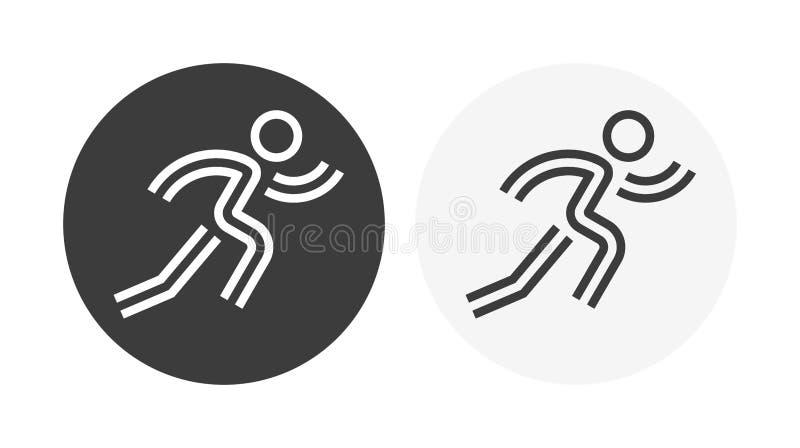 Αντίγραφο τρέχω-άτομο-εικονιδίων ελεύθερη απεικόνιση δικαιώματος
