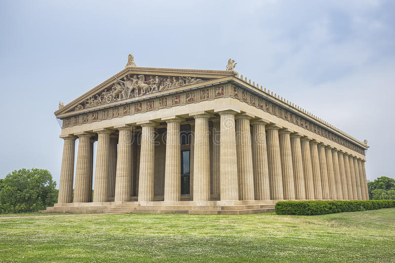 Αντίγραφο Parthenon στο Νάσβιλ στοκ εικόνα με δικαίωμα ελεύθερης χρήσης