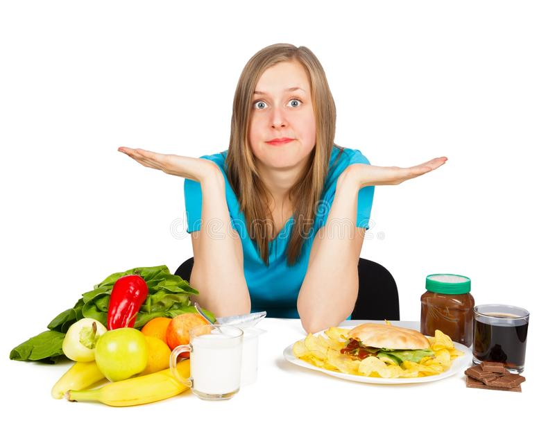 Αντίθεση τροφίμων στοκ φωτογραφία με δικαίωμα ελεύθερης χρήσης