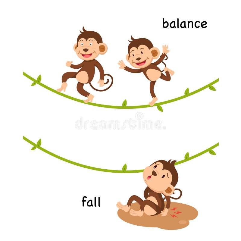 Αντίθετες πτώση και ισορροπία στοκ εικόνες