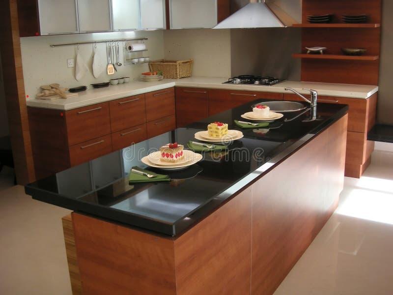 αντίθετη κουζίνα στοκ εικόνα