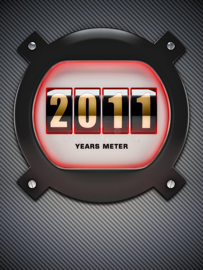 αντίθετο νέο έτος απεικόνιση αποθεμάτων