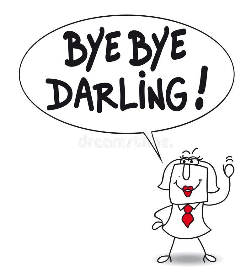 Αντίο αγάπη μου διανυσματική απεικόνιση