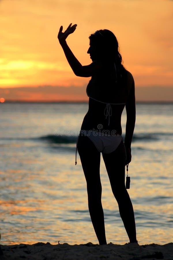 αντίο ηλιοβασίλεμα στοκ εικόνες