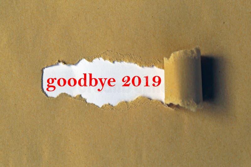 Αντίο το 2019 στοκ εικόνες