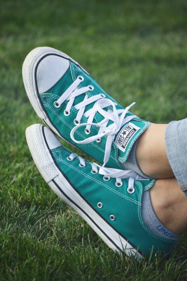 Αντίστροφα παπούτσια στοκ εικόνα
