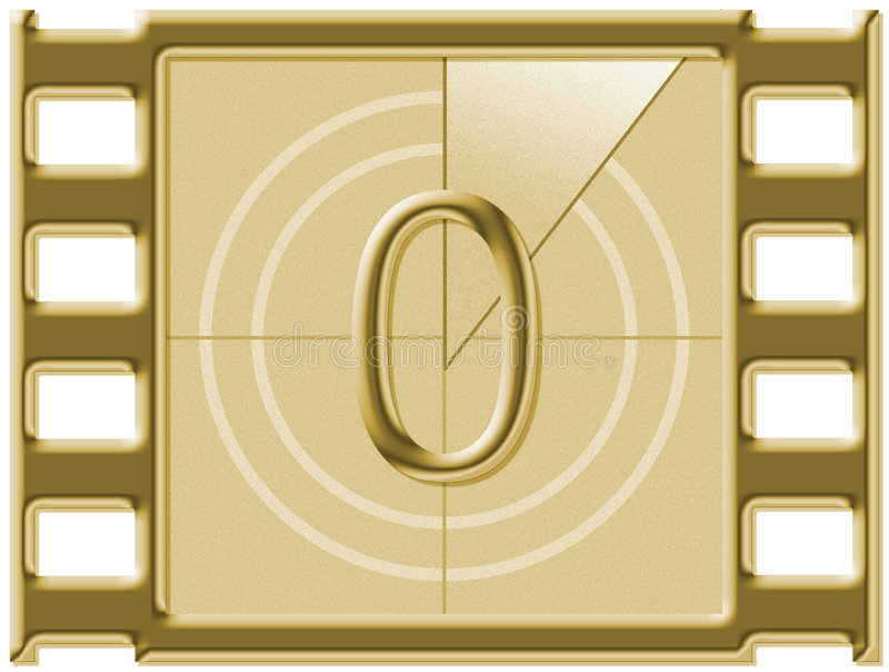 Αντίστροφη μέτρηση ταινιών απεικόνιση αποθεμάτων