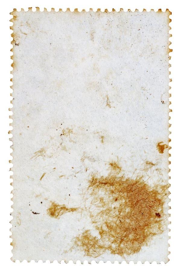 Αντίστροφη πλευρά ενός γραμματοσήμου στοκ εικόνα