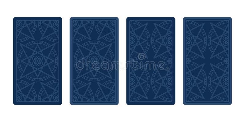 Αντίστροφη πλευρά καρτών Tarot Κλασικά σχέδια διανυσματική απεικόνιση