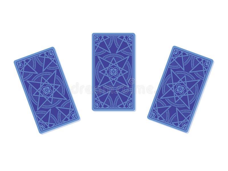 Αντίστροφη πλευρά τριών καρτών tarot ελεύθερη απεικόνιση δικαιώματος