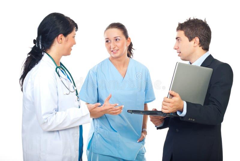 αντίστροφο άτομο lap-top γιατρών στοκ φωτογραφίες με δικαίωμα ελεύθερης χρήσης