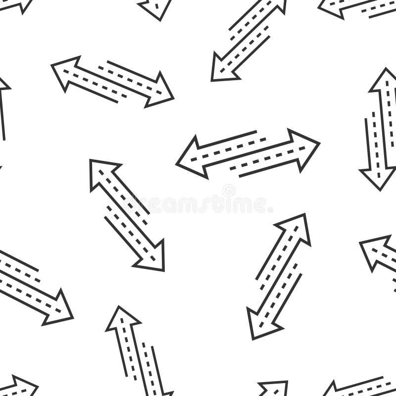 Αντίστροφο βελών σημαδιών υπόβαθρο σχεδίων εικονιδίων άνευ ραφής Αναζωογονήστε τη διανυσματική απεικόνιση απομονωμένο στο λευκό υ απεικόνιση αποθεμάτων