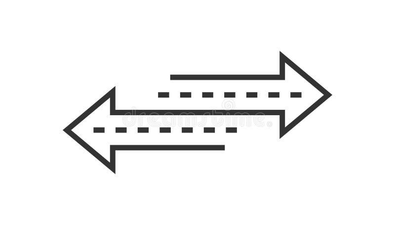 Αντίστροφο εικονίδιο σημαδιών βελών στο επίπεδο ύφος Αναζωογονήστε τη διανυσματική απεικόνιση απομονωμένο στο λευκό υπόβαθρο Επιχ απεικόνιση αποθεμάτων