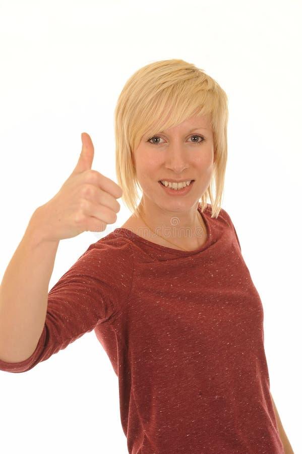 αντίχειρας επάνω στις νε&omicr στοκ φωτογραφία με δικαίωμα ελεύθερης χρήσης