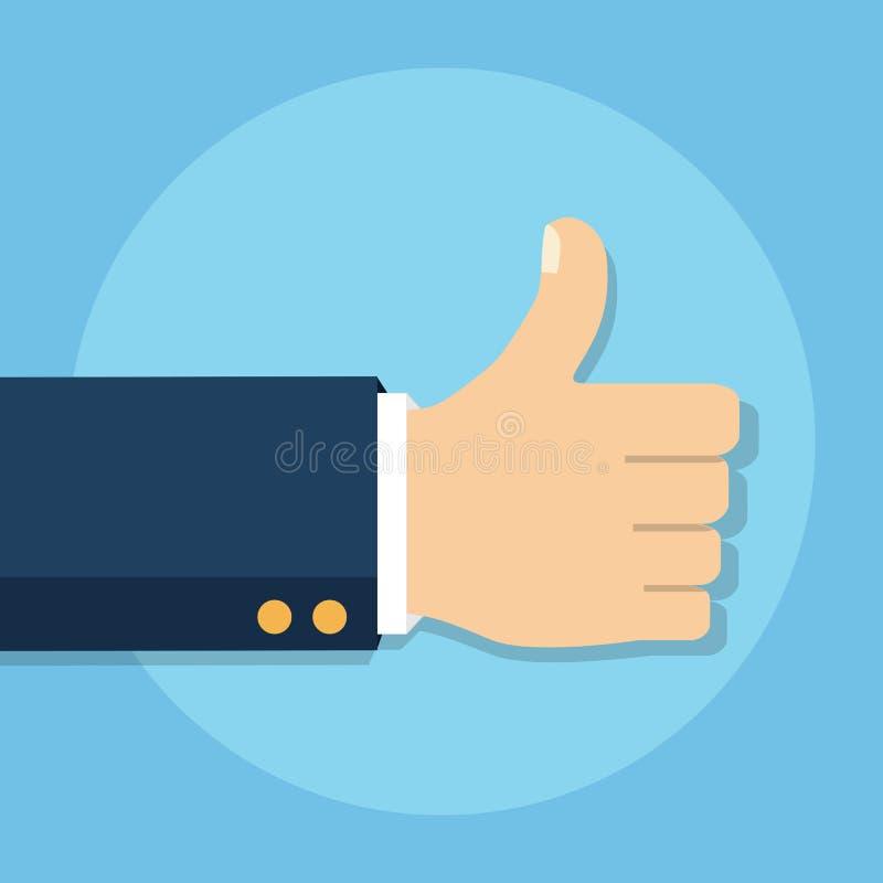 Αντίχειρας επάνω στο διανυσματικό εικονίδιο απομονωμένος σε ένα υπόβαθρο όπως το σύμβολο ελεύθερη απεικόνιση δικαιώματος