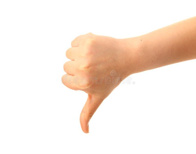 Αντίχειρας κάτω στοκ φωτογραφία με δικαίωμα ελεύθερης χρήσης