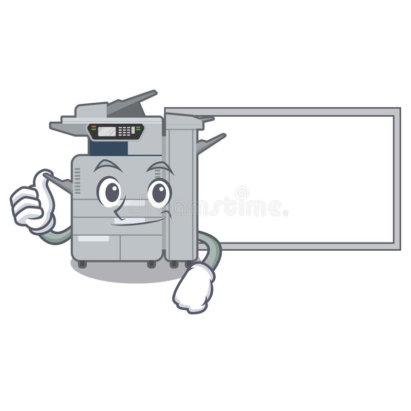 Αντίχειρες επάνω με τη μηχανή αντιγραφέων πινάκων στη μορφή κινούμενων σχεδίων διανυσματική απεικόνιση