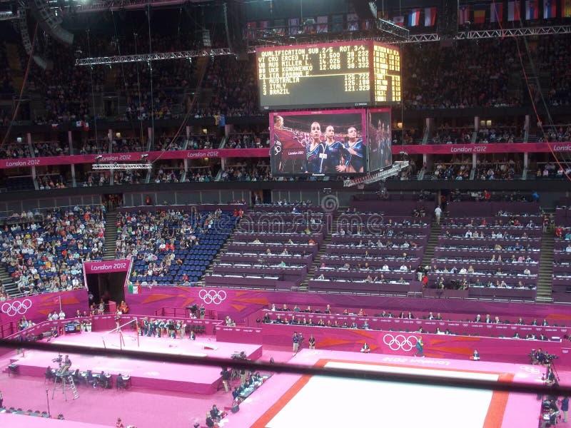 Ανταγωνισμός γυμναστικής σε 2012 Ολυμπιακούς Αγώνες του Λονδίνου στοκ φωτογραφίες
