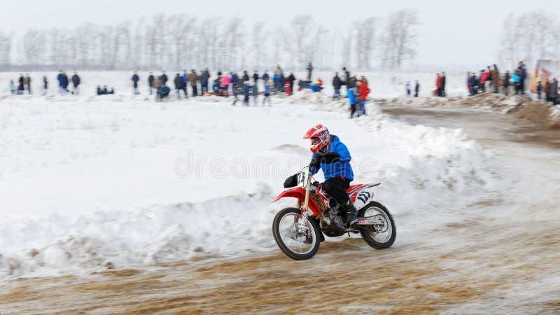 Ανταγωνισμός χειμερινού μοτοκρός στοκ εικόνες