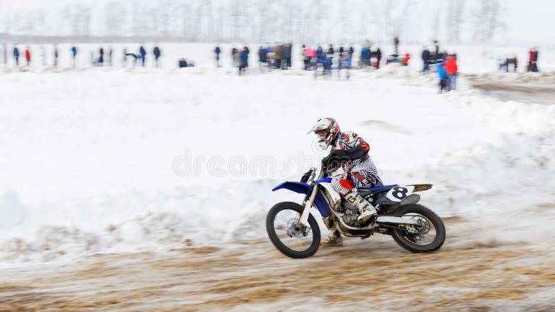Ανταγωνισμός χειμερινού μοτοκρός στοκ φωτογραφίες με δικαίωμα ελεύθερης χρήσης