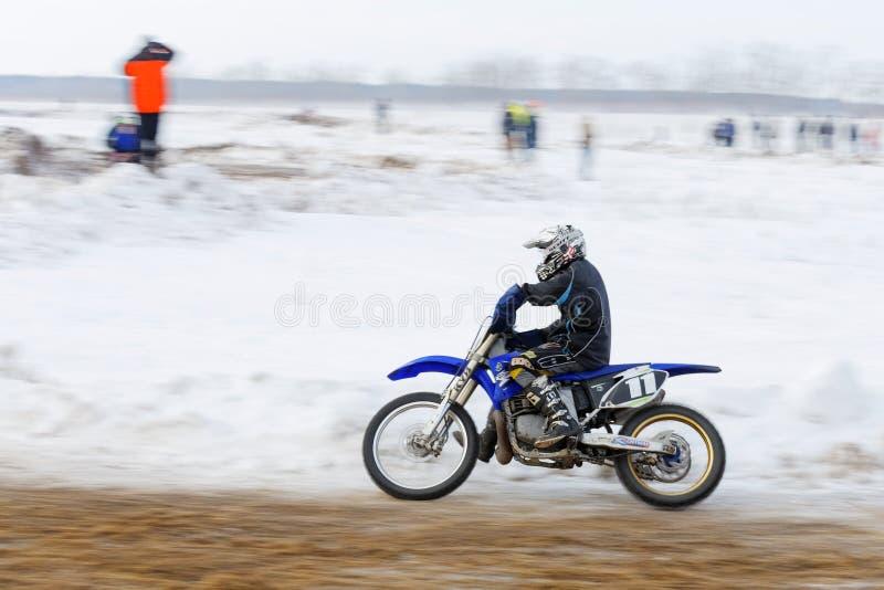 Ανταγωνισμός χειμερινού μοτοκρός στοκ φωτογραφία με δικαίωμα ελεύθερης χρήσης
