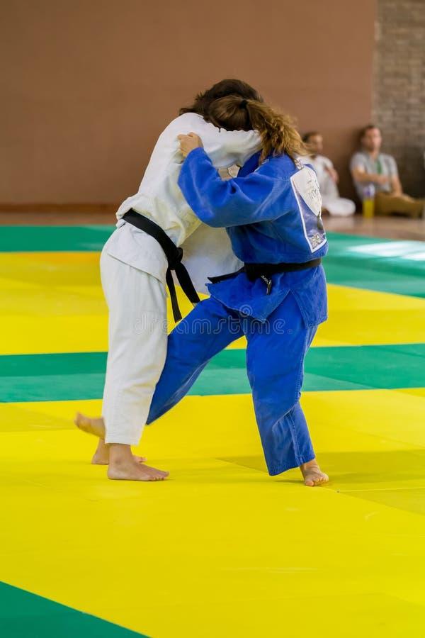 Ανταγωνιστές στα καταλανικά ανώτερα πρωταθλήματα τζούντου στη Βαρκελώνη, 2 στοκ εικόνα με δικαίωμα ελεύθερης χρήσης