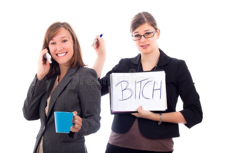 ανταγωνιστικές γυναίκες επιχειρησιακών συναδέλφων στοκ εικόνα
