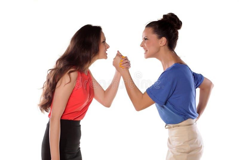 Ανταγωνιστικές γυναίκες στοκ εικόνες