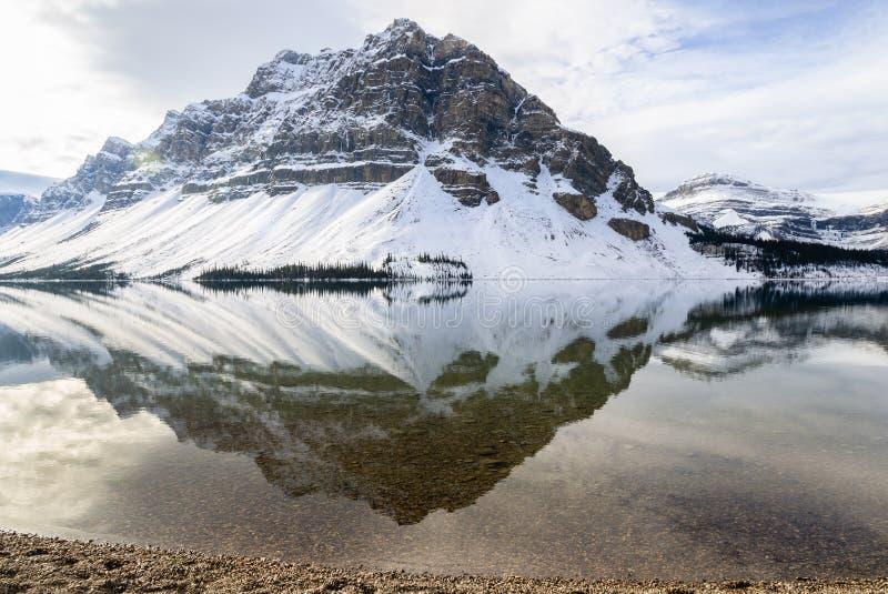 Αντανάκλαση λιμνών τόξων στο εθνικό πάρκο Banff, Αλμπέρτα, Καναδάς στοκ φωτογραφίες με δικαίωμα ελεύθερης χρήσης