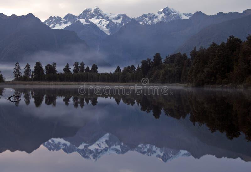αντανάκλαση λιμνών matheson στοκ φωτογραφίες