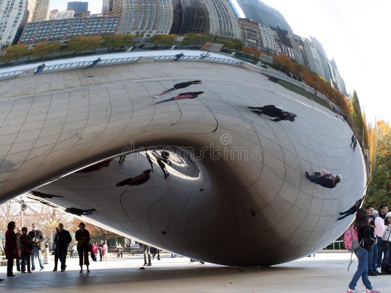Αντανάκλαση φασολιών του Σικάγου στοκ εικόνα