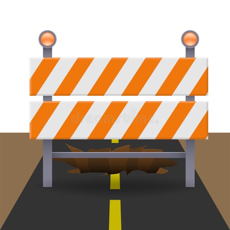 Αντανακλαστικό οδόφραγμα κυκλοφορίας διανυσματική απεικόνιση
